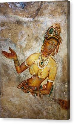 Artisan Canvas Print - Apsara. Sigiriya Cave Painting by Jenny Rainbow