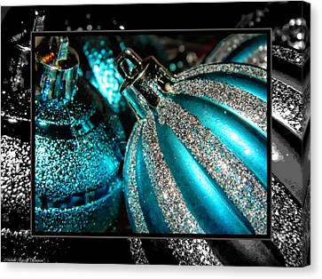 Aqua Baulbs Canvas Print