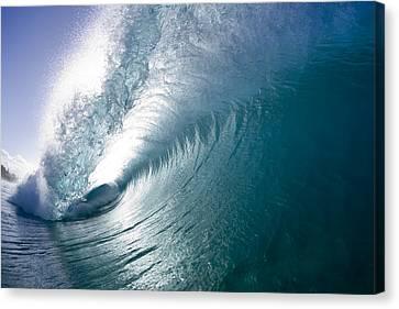 Aqua Curl Canvas Print