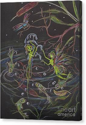 Aqua Canvas Print by Dawn Fairies