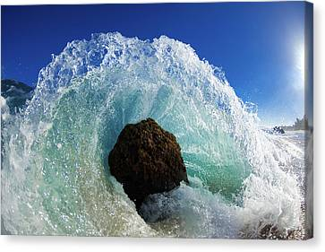 Crashing Canvas Print - Aqua Dome by Sean Davey
