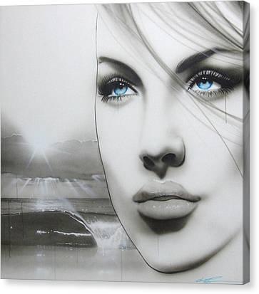 Portrait - ' Aqua Marine ' Canvas Print