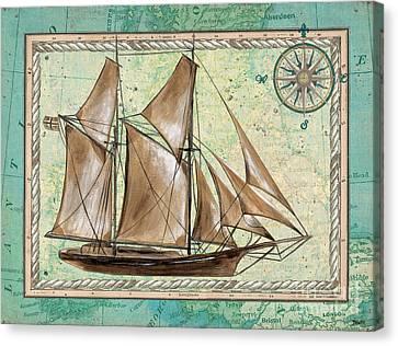 Aqua Maritime 2 Canvas Print