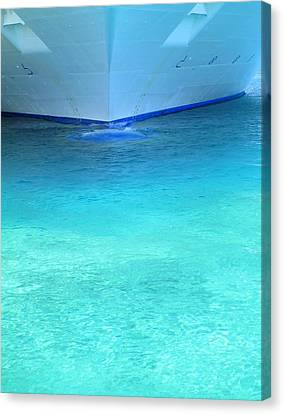 Aqua Canvas Print by Randall Weidner
