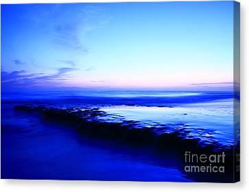 Canvas Print featuring the photograph Swamis Aqua Reef  by John F Tsumas