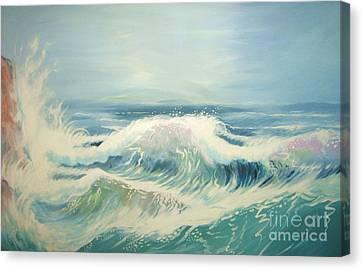 Aqua Sea Scape Canvas Print