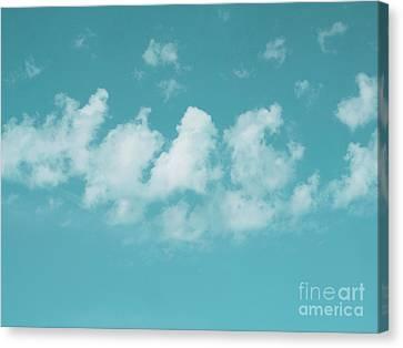 Aqua Sky Meditation Canvas Print by Irina Wardas
