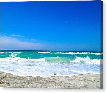 Aqua Surf Canvas Print by Margie Amberge