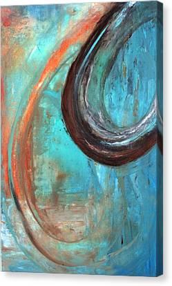 Aqua Canvas Print by Tia Marie McDermid
