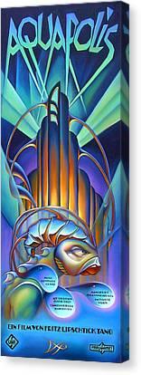 Orb Canvas Print - Aquapolis by Patrick Anthony Pierson