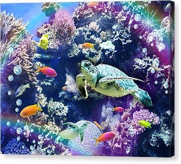 Aquarium Canvas Print by Alixandra Mullins