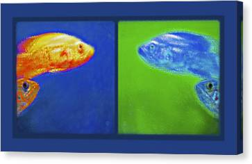 Aquarium Art Diptych Canvas Print by Steve Ohlsen