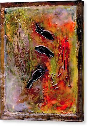 Aquarium Encaustic Canvas Print by Bellesouth Studio