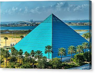 Aquarium In A Pyramid Canvas Print