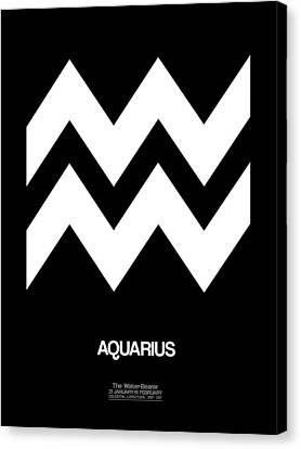 Signed Canvas Print - Aquarius Zodiac Sign White by Naxart Studio