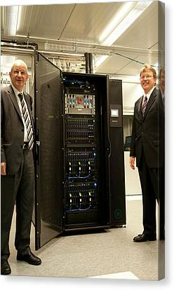 Aquasar Supercomputer Canvas Print by Ibm Research