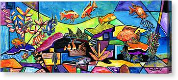 Aquascape #1 Canvas Print by Everett Spruill