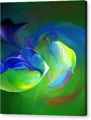 Canvas Print featuring the digital art Aquatic Illusions by David Lane