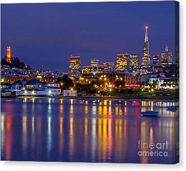 Aquatic Park Blue Hour Canvas Print