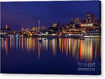 Aquatic Park Blue Hour Wide View Canvas Print