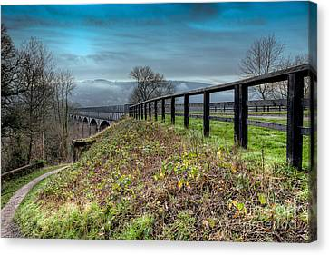 Aqueduct At Pontcysyllte Canvas Print by Adrian Evans