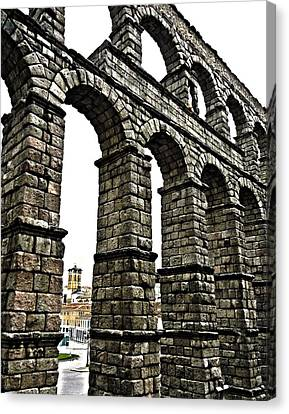 Aqueduct Of Segovia - Spain Canvas Print