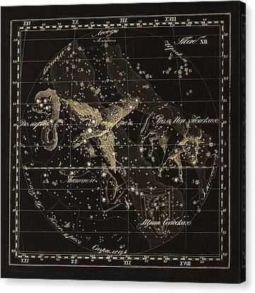 Aqulia Constellations, 1829 Canvas Print by Science Photo Library