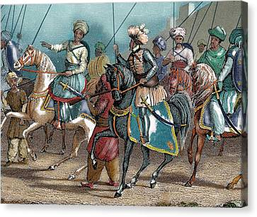 Arab Army Nineteenth-century Colored Canvas Print by Prisma Archivo