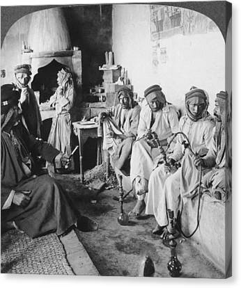 Iraq Canvas Print - Arab Men At Leisure by Underwood Archives