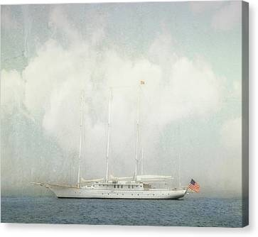 Arabella On Newport Harbor Canvas Print by Karen Lynch