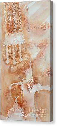 Arabesque Coffee Pots And Jewellery IIi Canvas Print by Beena Samuel