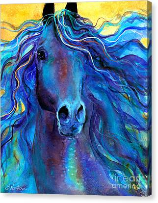 Watercolor Pet Portraits Canvas Print - Arabian Horse #3  by Svetlana Novikova