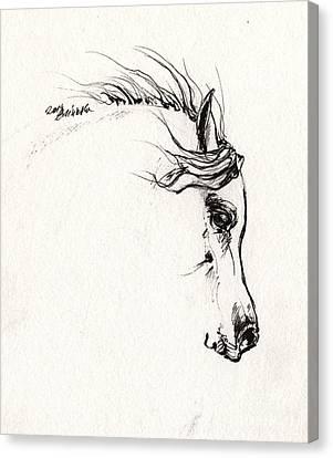 Arabian Horse Sketch 2014 05 29a Canvas Print