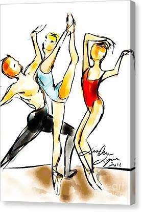 Arabian Rehearsal Canvas Print by Lisa Owen-Lynch
