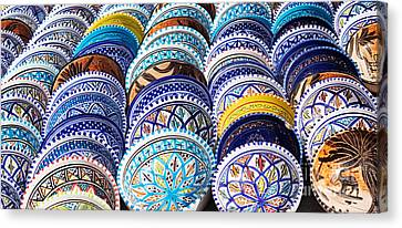 Arabic Colorful Pottery  Canvas Print by Mythja  Photography