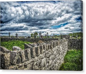 Aran Island Cemetary Ireland Canvas Print by Gestalt Imagery
