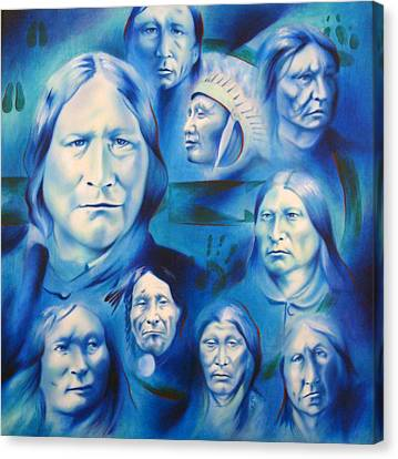 Arapaho Leaders Canvas Print by Robert Martinez