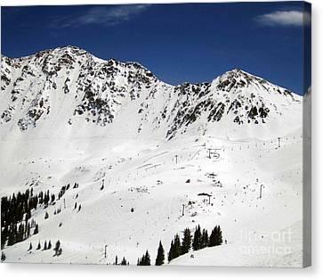 Arapahoe Basin Ski Resort - Colorado          Canvas Print by Fiona Kennard