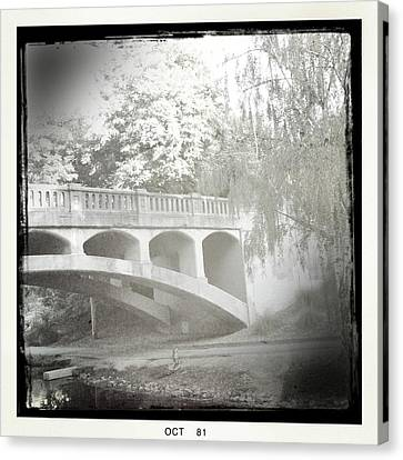 Arboretum Bridge Canvas Print by Justine Connolly