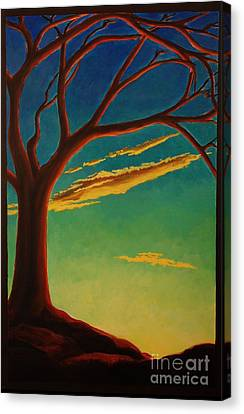 Canvas Print featuring the painting Arbutus Bliss by Janet McDonald