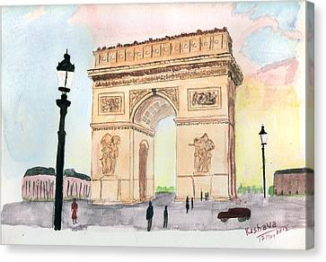 Arc De Triomphe Canvas Print by Keshava Shukla