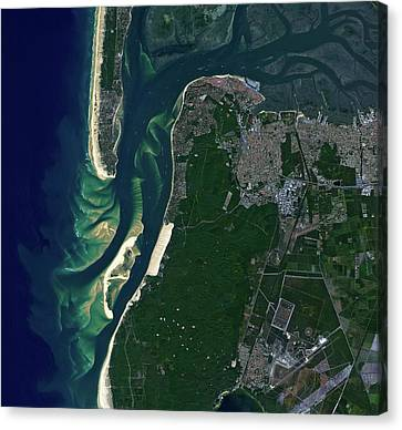 Arcachon Bay Canvas Print by Jaxa/european Space Agency