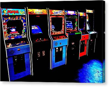 Arcade Forever Nintendo Canvas Print by Benjamin Yeager
