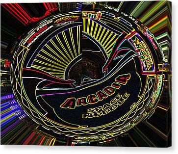 Arcadia Space Needle Abstract Canvas Print by Marian Bell