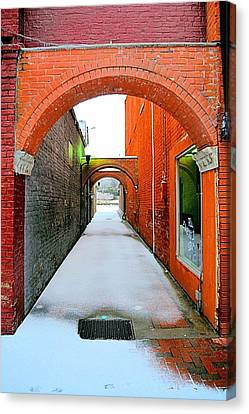 Arch And Corridor Canvas Print