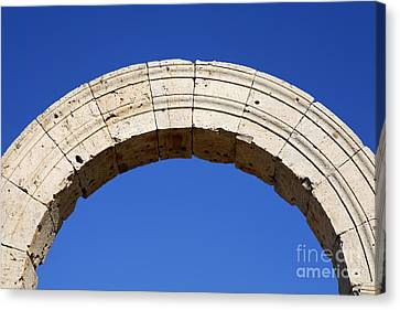 Arch At Leptis Magna In Libya Canvas Print by Robert Preston