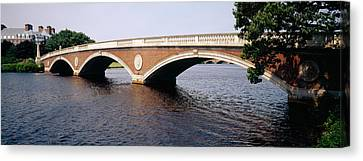 Arch Bridge Across A River, Anderson Canvas Print by Panoramic Images