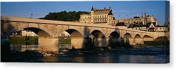 Arch Bridge Near A Castle, Amboise Canvas Print by Panoramic Images