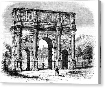 Arch Of Constantine Canvas Print by Collection Abecasis