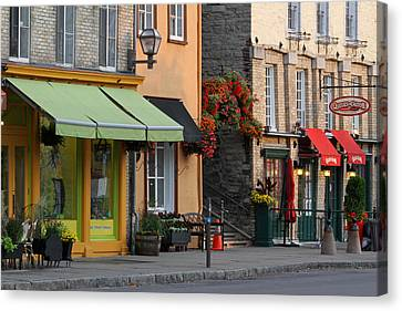 Arch Of Flowers In Old Quebec City Canvas Print by Juergen Roth